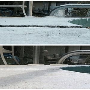Before and After Pool Deck Concrete Repair Image