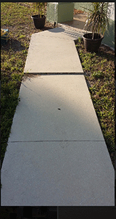 Port Charlotte Sidewalk Repair Job Before Image - Environmental Foam Solutions